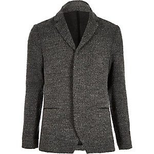 Grey boiled wool jacket