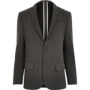 Charcoal grey jersey blazer