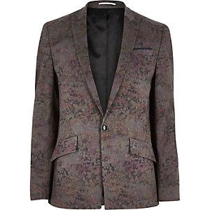 Pink arty cotton woven blazer
