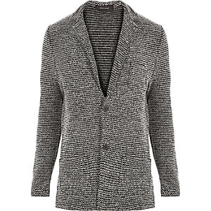 Black knitted blazer
