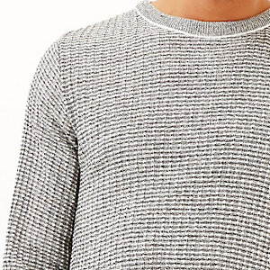 Grey marl ribbed jumper