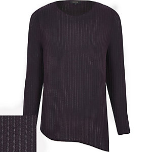Purple asymmetric tunic jumper