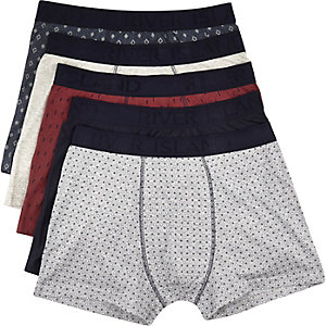 Navy boxer shorts pack