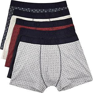 Navy boxer shorts pack