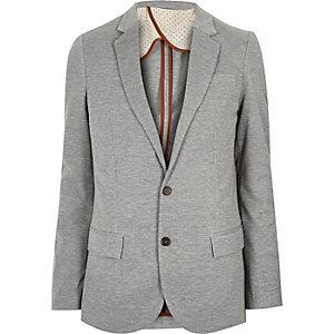 Grey jersey skinny blazer