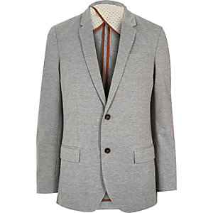 Grey traditional jersey blazer