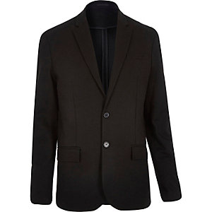Black jersey slim blazer
