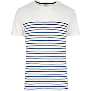 White Only & Sons blue stripe t-shirt