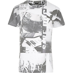 White Only & Sons collage print t-shirt