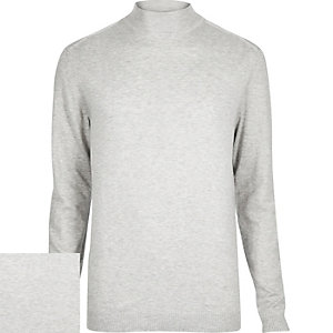Light grey turtle neck jumper