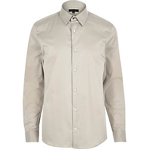 Ecru slim shirt