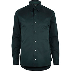 Dark green slim shirt
