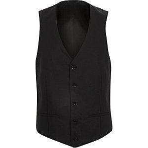 Black button waistcoat