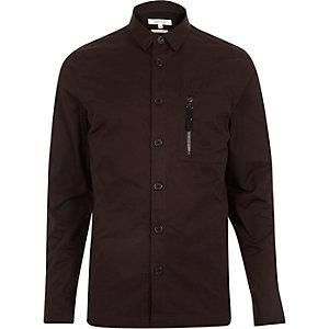 Purple zip pocket overshirt