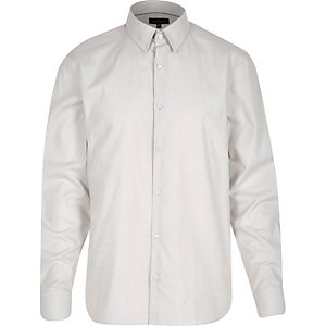 Light grey slim shirt