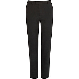 Grey pupstooth skinny fit trousers