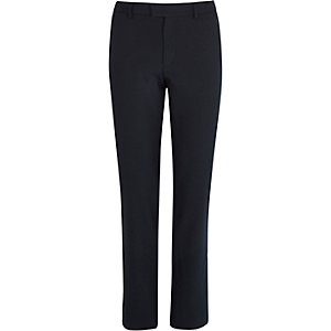 Navy smart skinny trousers