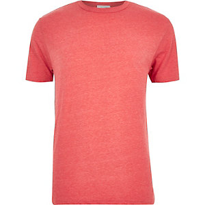Red premium crew neck t-shirt