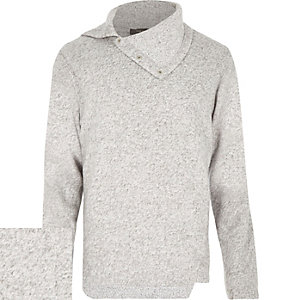 Light grey cowl neck jumper