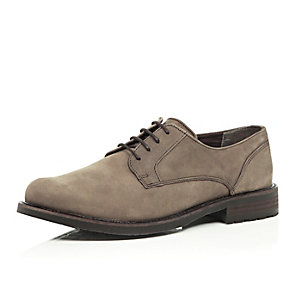 Grey nubuck formal shoes