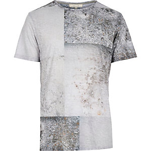 Grey pavement print t-shirt