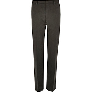 Dark grey slim suit trousers