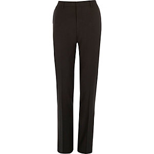 Darkest grey slim suit trousers