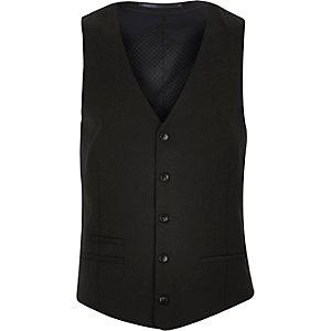 Darkest grey slim waistcoat