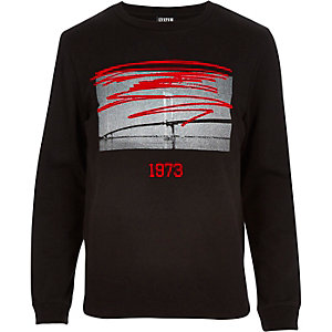 Black Systvm red print sweatshirt