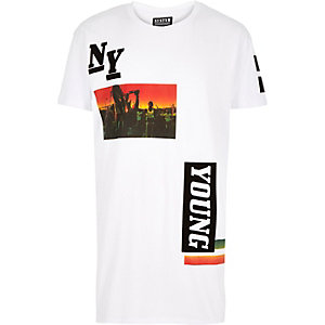 White Systvm New York print t-shirt