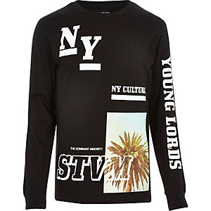 Black Systvm New York print sweatshirt