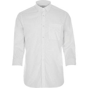 White smart cotton shirt