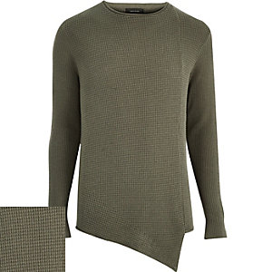 Green asymmetric front jumper
