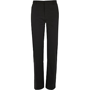 Black textured slim tux suit trousers