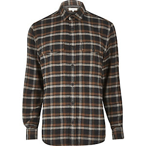 Brown soft flannel shirt