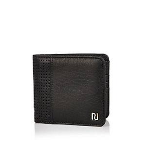 Black chunky perforated wallet