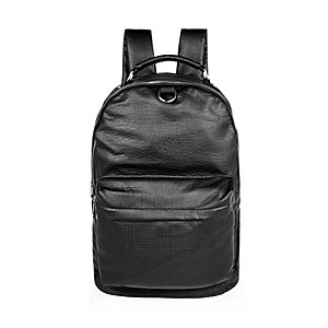 Black perforated front backpack