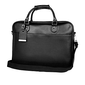 Black perforated workbag