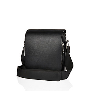 Black structured cross body bag
