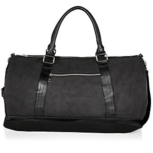 Black rubberised holdall bag