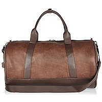 Light brown holdall