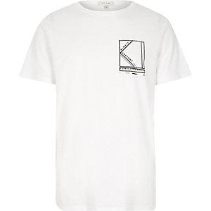 White always present print t-shirt