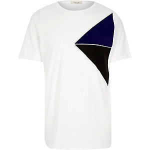 White triangle block print t-shirt