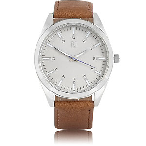 Brown minimal watch