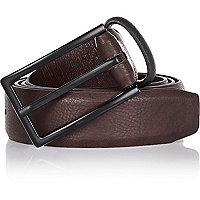Burgundy smart belt