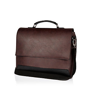 Dark red flapover bag