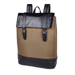 Camel brown minimal backpack