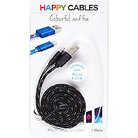 Black happy iPhone 6 cable