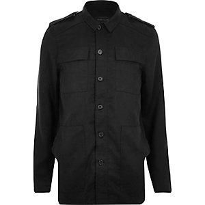 Black minimal military jacket