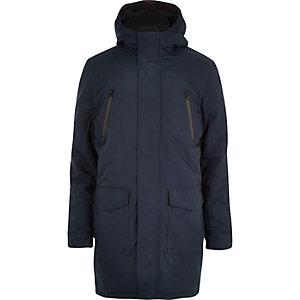 Navy parka winter coat
